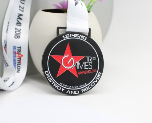 médaille finisher triathlon