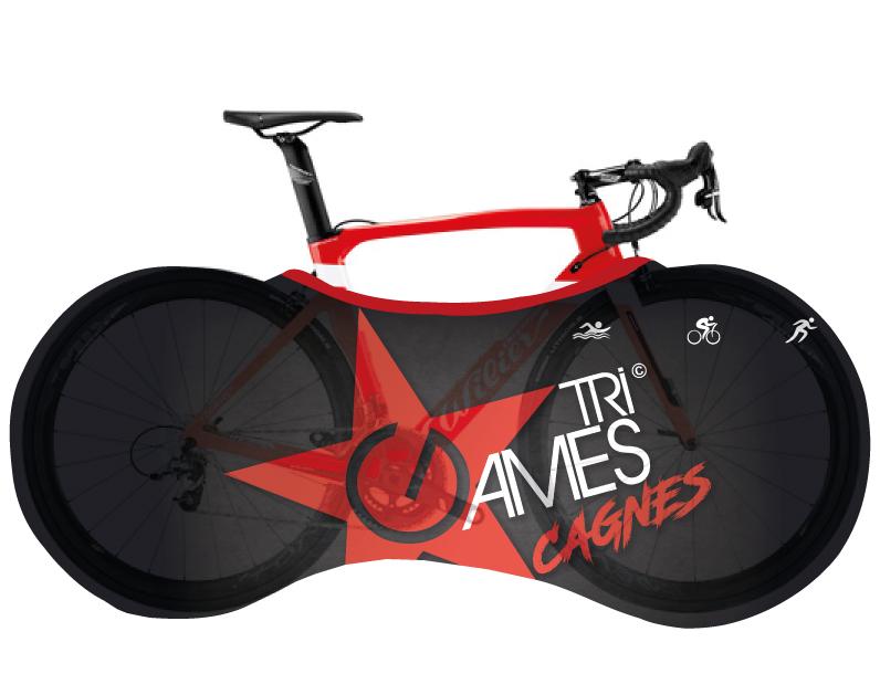 housse de transport vélo personnalisée