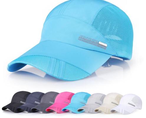casquette running personnalisé bleu